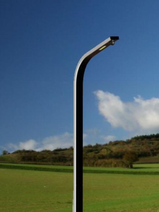 Agréable Lampe Solaire Exterieur Design #10: Curve Lampadaire Solaire Design, Batterie Gel 120 Ah Et Lampe 30w, Prix De  Vente